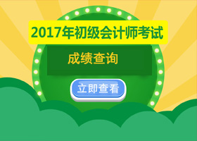 2017年初级会计职称考试成绩查询
