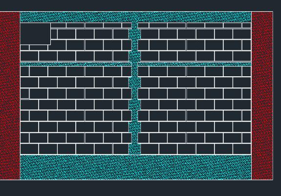 传统CAD排砖图