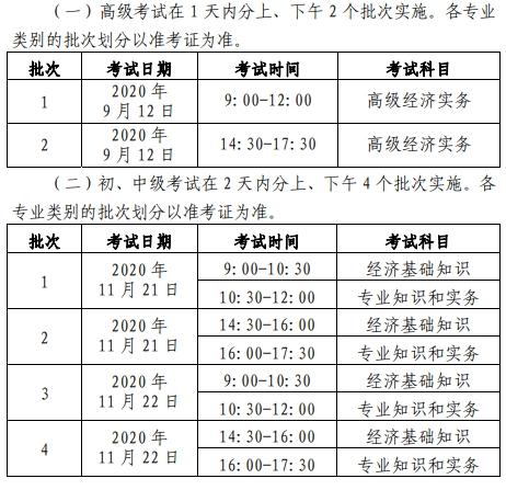 北京中级经济师报名时间2020图片