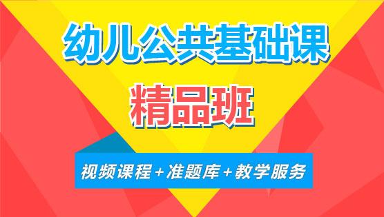 【精品班】幼儿公共基础课(全科)