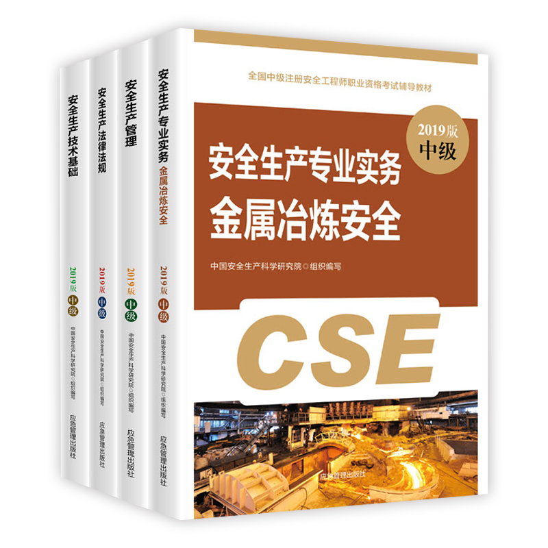 2019年中级注册安全工程师考试教材 金属冶炼安全 全套4本