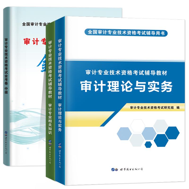 天明2020中级审计专业技术资格考试教材+金考卷 全3本 审计理论与实务+审计专业相关知识审计