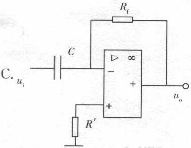 如果输入信号为方波,则若要获得三角波,需要通过电路