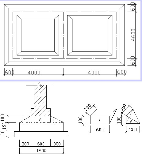 拌合站基础钢筋平面图