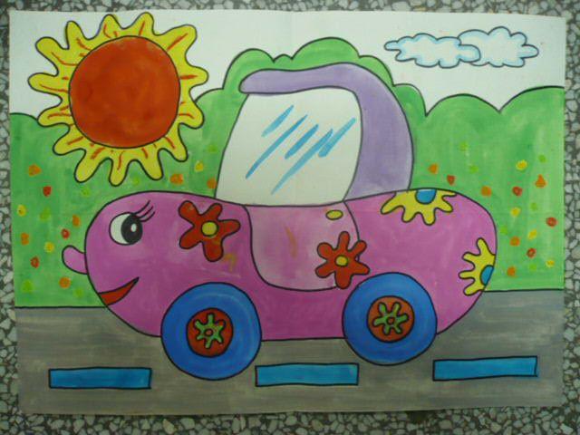 幼儿教育:儿童水彩画《春天的阳光》-中大网校儿童