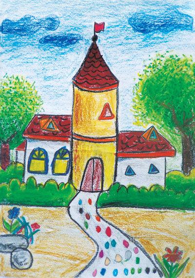 幼儿教育:儿童油棒画《春天的色彩》-中大网校儿童