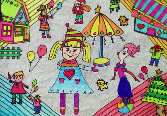 孩子旅游简笔画