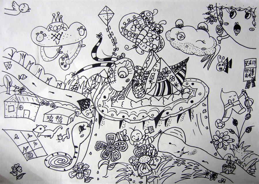蚂蚱绘画步骤