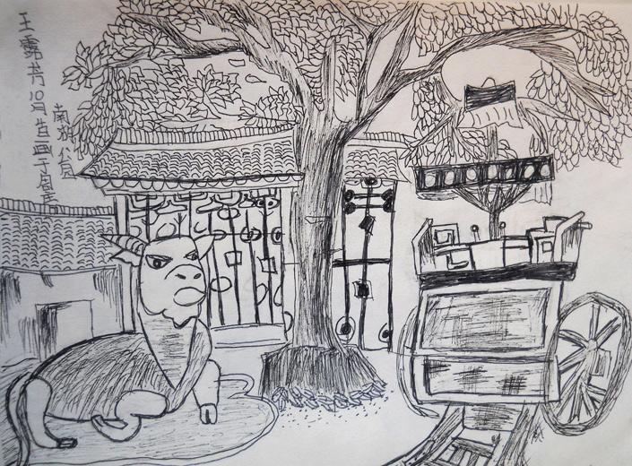 点击图片进入下一张; 儿童画南湖公园速写_六一儿童网; 点击图片进入