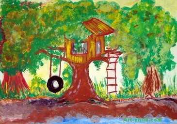幼儿教育:儿童水彩画《我们的节日创意》-中大网校