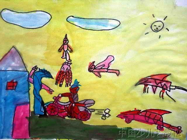 幼儿教育:儿童科幻画《《科幻世界》》-中大网校儿童