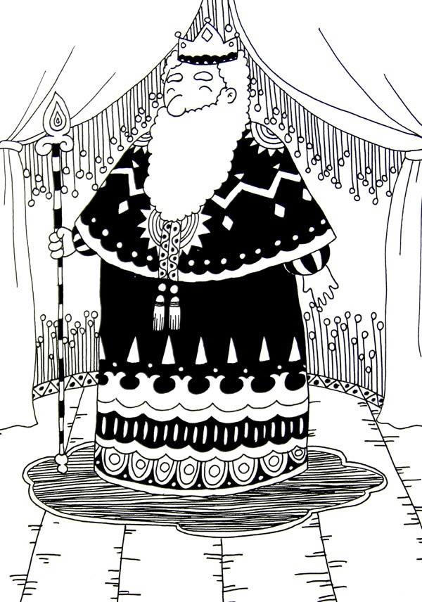 国王图片简笔画