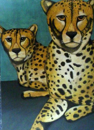 豹 豹子 壁纸 动物 桌面 360_500 竖版 竖屏 手机