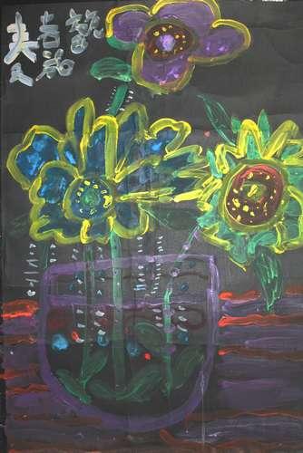 幼儿教育:水粉画《春天的花朵》-中大网校儿童教育网