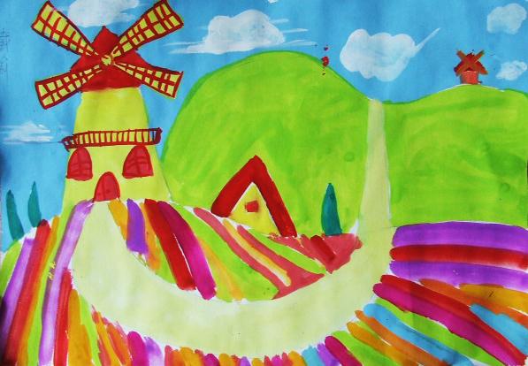 儿童画山怎么画