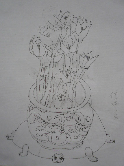 画花瓶的步骤图解