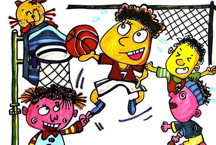 幼儿教育:儿童水彩画《大家一起做运动》-中大网校