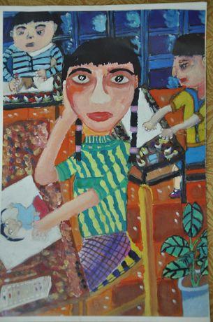 幼儿教育:中国风儿童画《美好的校园》-中大网校儿童