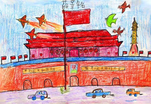 幼儿教育:儿童油棒画《心中的祖国》-中大网校儿童