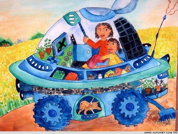 儿童科幻画图片 未来的汽车高清图片