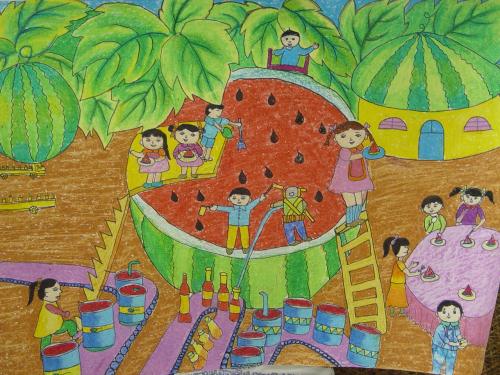 幼儿教育:儿童科幻画《绿色家园》-中大网校儿童教育网图片