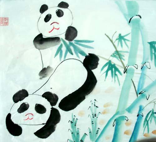 幼儿动物水墨画步骤