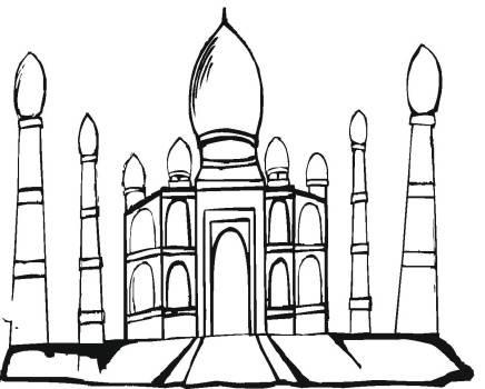 线描《卡通城堡》