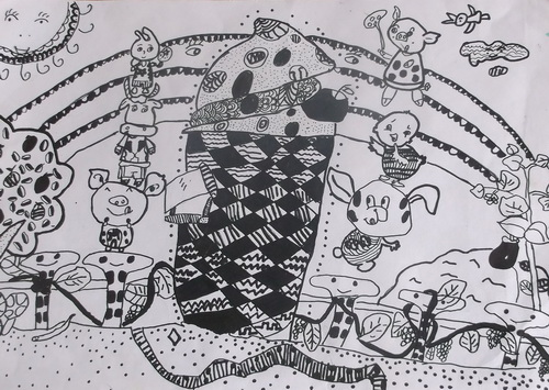 儿童画素描图片