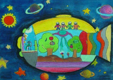 幼儿教育:儿童科幻画《科幻鱼》-中大网校儿童教育网