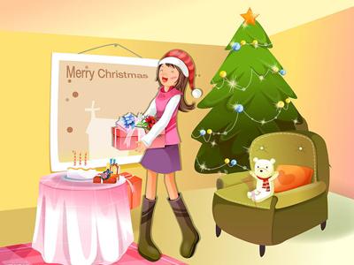 幼儿教育:儿童科幻画《我的快乐圣诞》-中大网校儿童