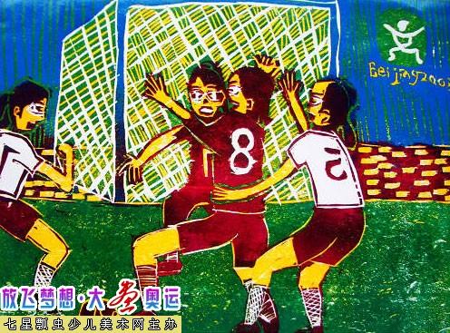 幼儿教育:儿童版画《奥运》-中大网校儿童教育网