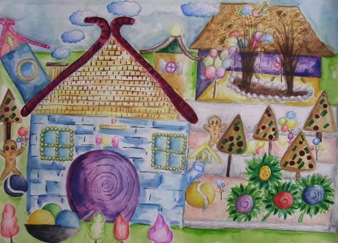 幼儿教育:儿童版画《蛇年迎元宵》-中大网校儿童教育