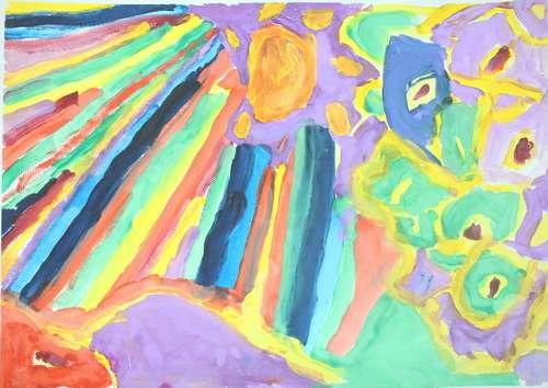 幼儿教育:水粉画《阳光总在风雨后》-中大网校儿童
