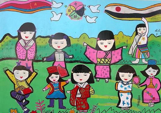 幼儿教育:儿童水彩画《我们都是好朋友》-中大网校