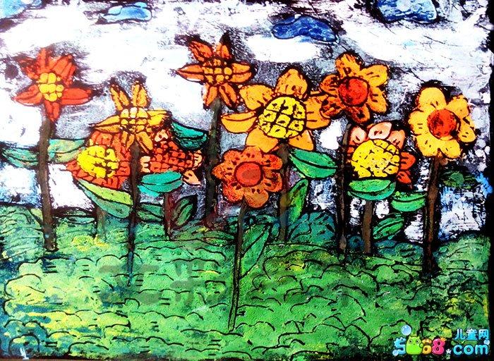 儿童水彩画《简笔水彩画图片大全-花花世界》