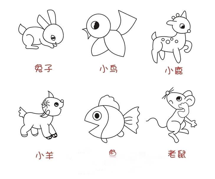 幼儿教育:速写《小动物》-中大网校儿童教育网