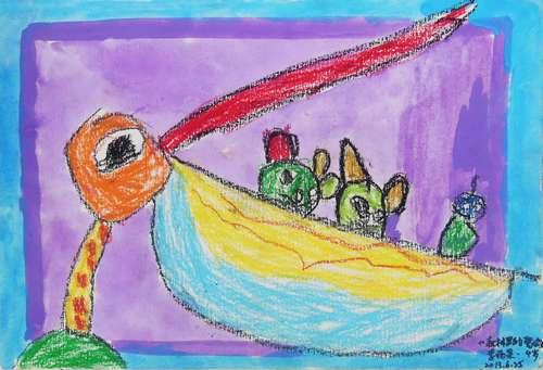 幼儿教育:儿童油棒画《森林里的聚会》-中大网校儿童