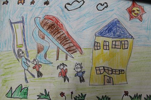幼儿教育:儿童版画《我爱我的幼儿园》-中大网校儿童