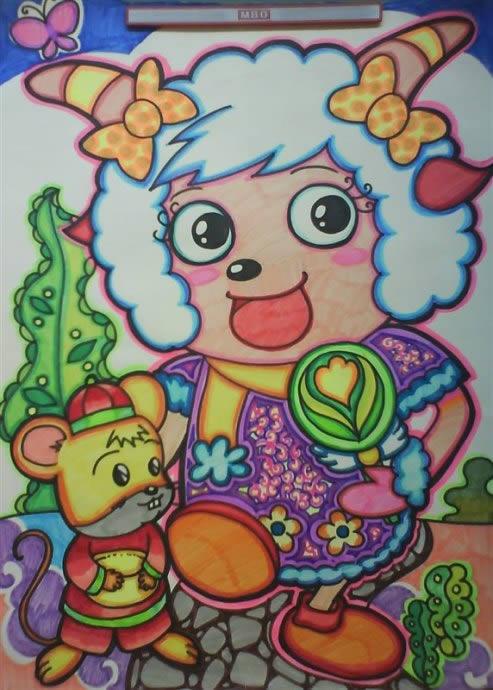 l喜羊羊儿童卡通跳绳幼儿健身跳绳幼儿园小学生奖品