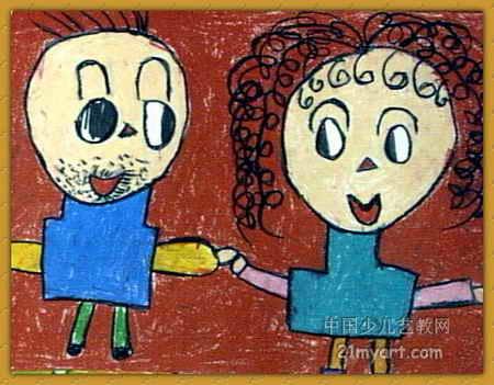 幼儿教育:线描《《爸爸和妈妈》》-中大网校儿童教育