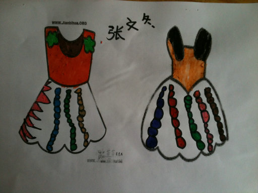 儿童水彩画《简单水彩画图片大全-美丽的花裙子》