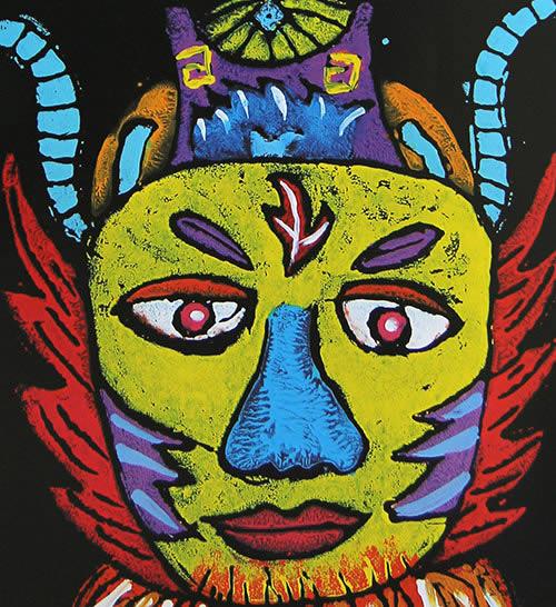 儿童版画《神奇的面具》