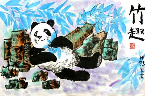 幼儿教育:中国风儿童画《竹趣》-中大网校儿童教育网