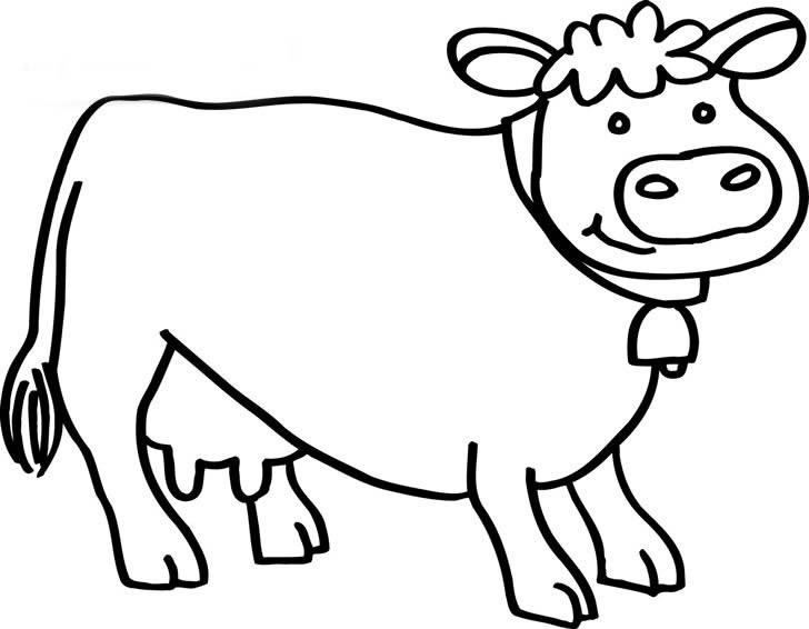 十二生肖线描简笔画 生肖牛