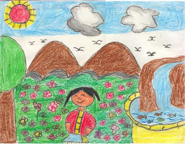 幼儿教育:儿童油棒画《愉快的心情》-中大网校儿童