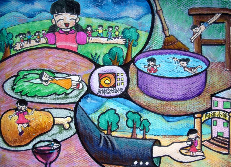 幼儿教育:儿童科幻画《身体放大缩小器》-中大网校