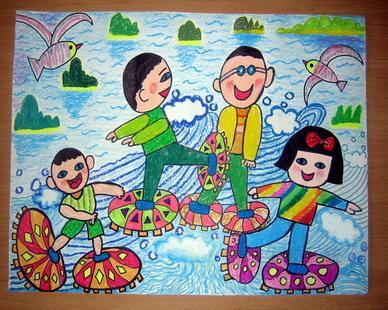 儿童科幻画《玩耍》图片