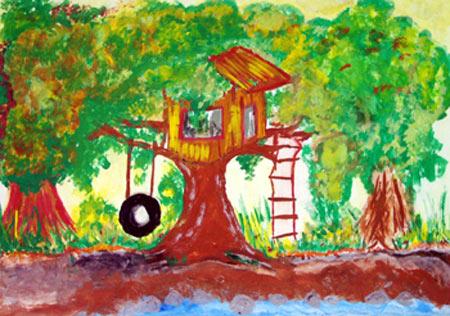 幼儿教育:水粉画《游乐园》-中大网校儿童教育网