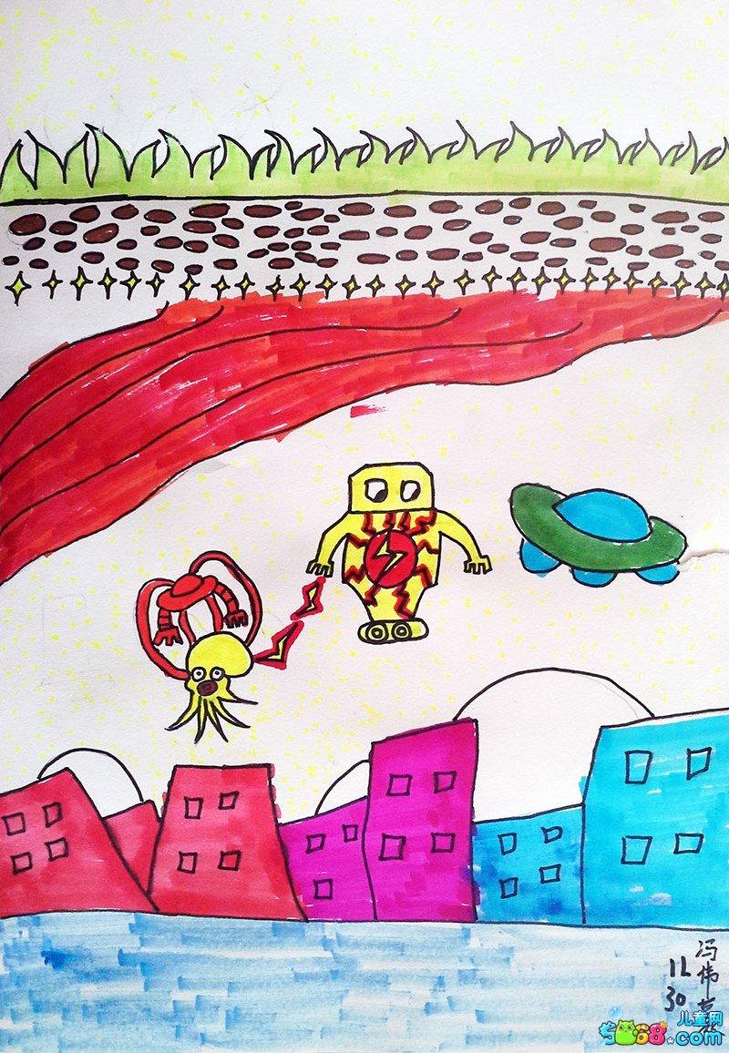 幼儿教育:儿童水彩画《儿童水彩画图片大全-海洋生物
