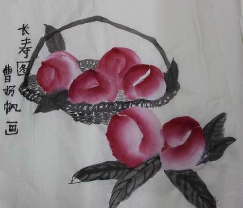 幼儿教育:中国风儿童画《长寿图》-中大网校儿童教育